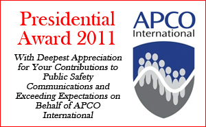 Andrew M. Seybold was honored with the Presidential Award of the Associated Public Safety Communications Officials (APCO International ) during the association's 77th Annual Conference and Exposition Meeting in Philadelphia August 7-11.